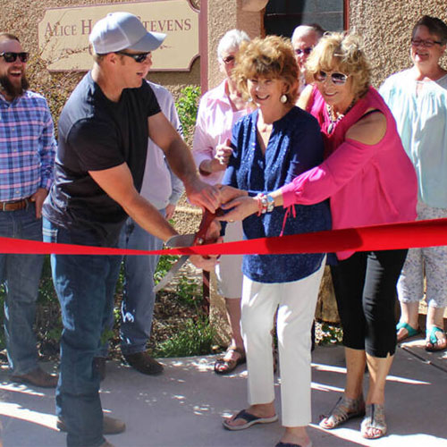Photo of an LCBA Ribbon-Cutting ceremony in Laramie, Wyoming