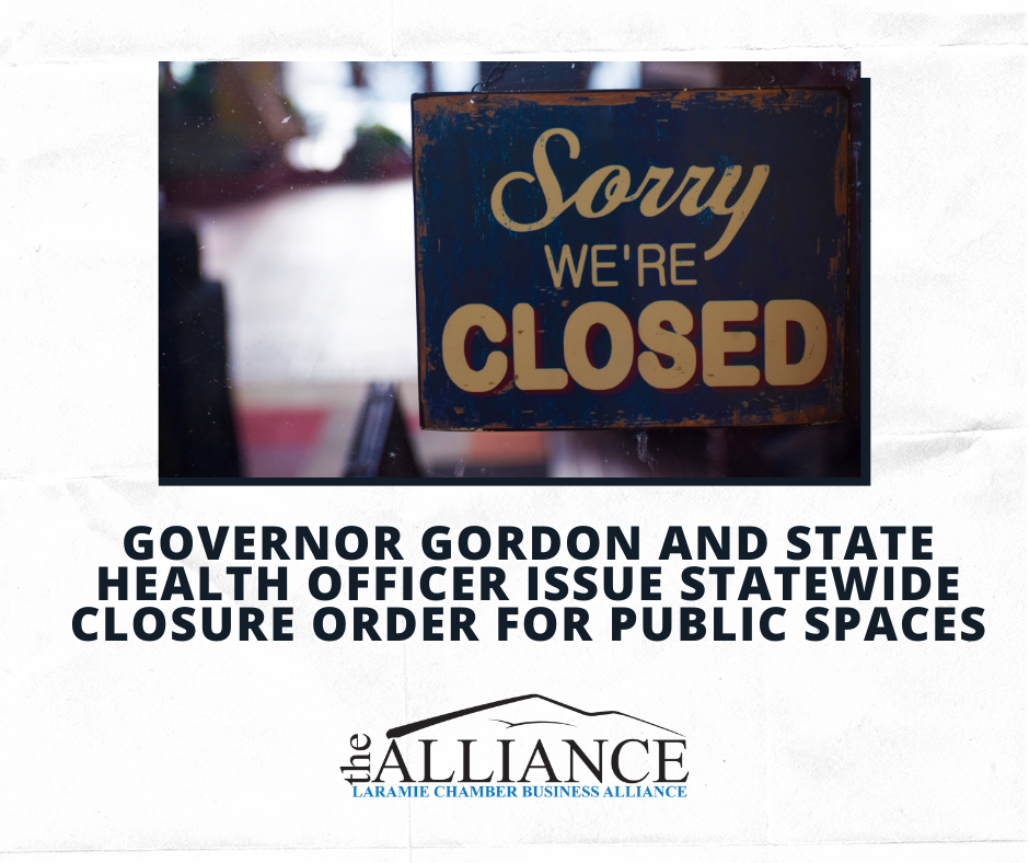 Governor Gordon and State Health Officer issue statewide closure order for public spaces