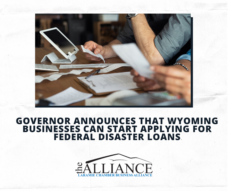 Governor announces that Wyoming businesses can start applying for federal disaster loans
