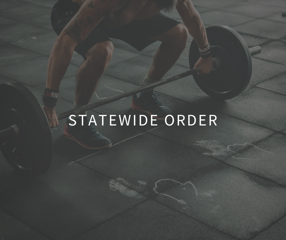 Statewide Order pertaining to gymnasiums