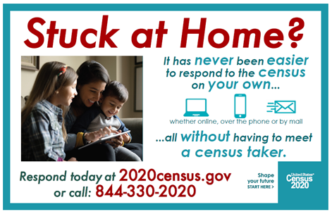 It has never been easier to respond to the census on your own